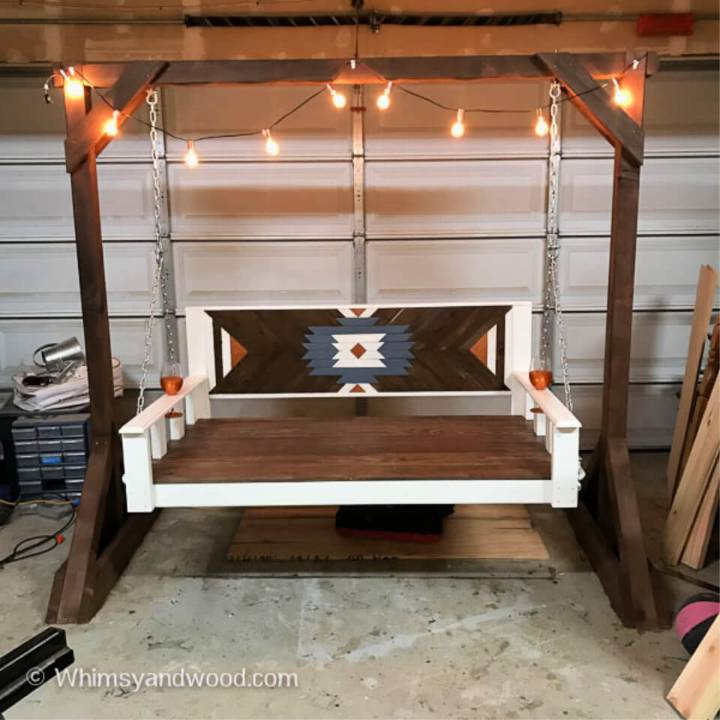 DIY Plywood Daybed Porch Swing Bench