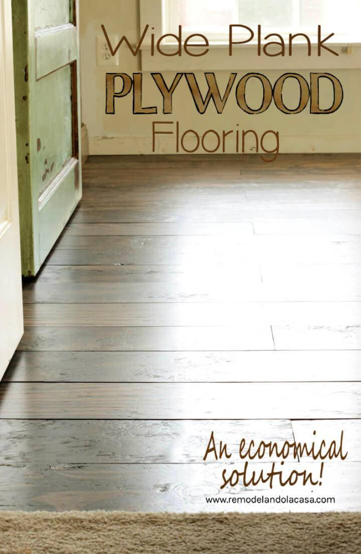 DIY Plywood Flooring in Bedroom