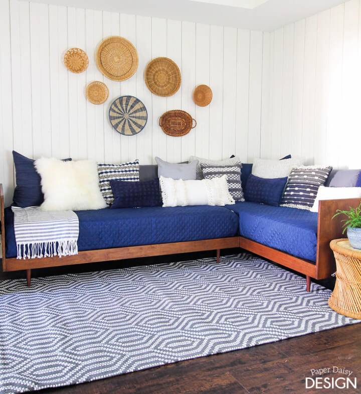 DIY Plywood Mid Century Modern Daybed