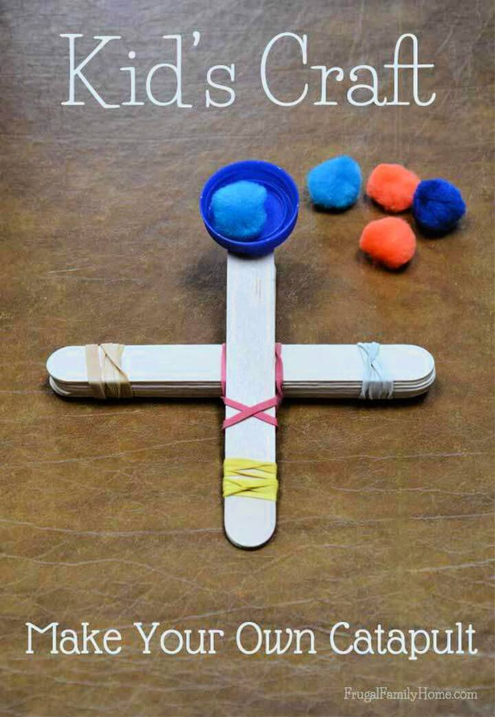 DIY Popsicle Stick Catapult Kid's Craft