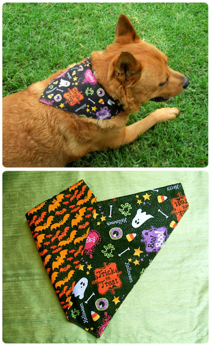 DIY Reversible Dog Bandanas
