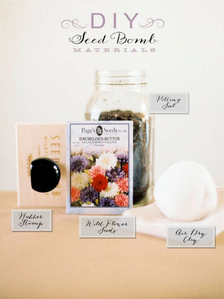 DIY Seed Bomb Wedding Favor