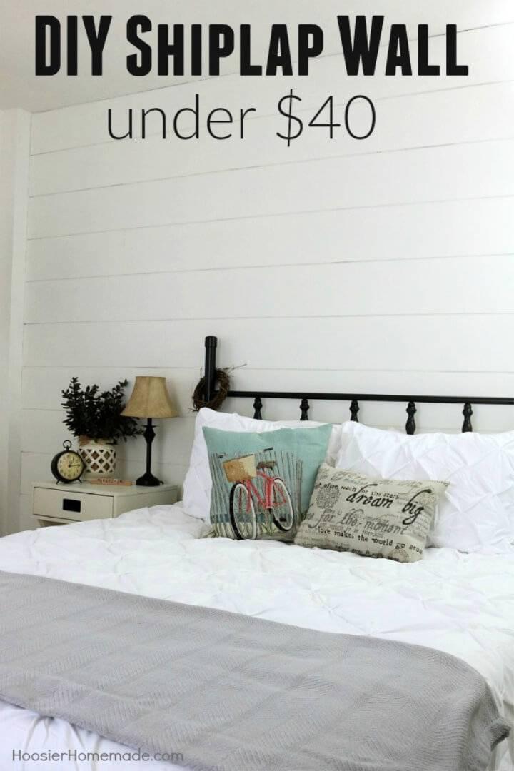 DIY Shiplap Wall for Under 40