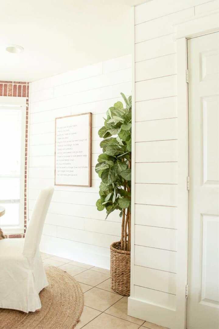 DIY Shiplap Walls in The Dining Room