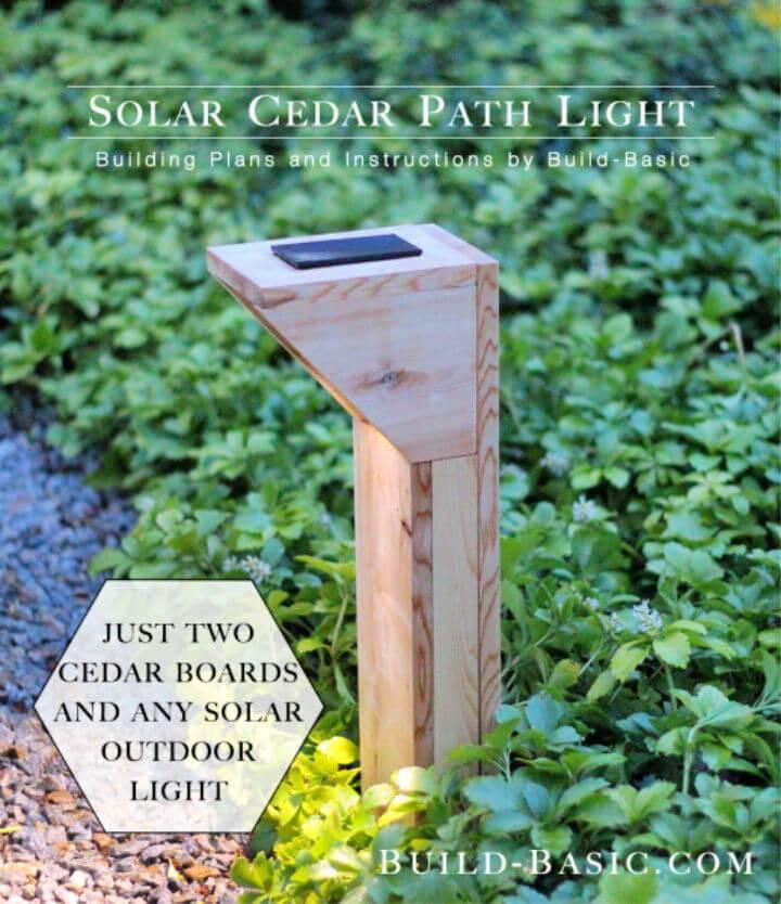 DIY Solar Cedar Path Light