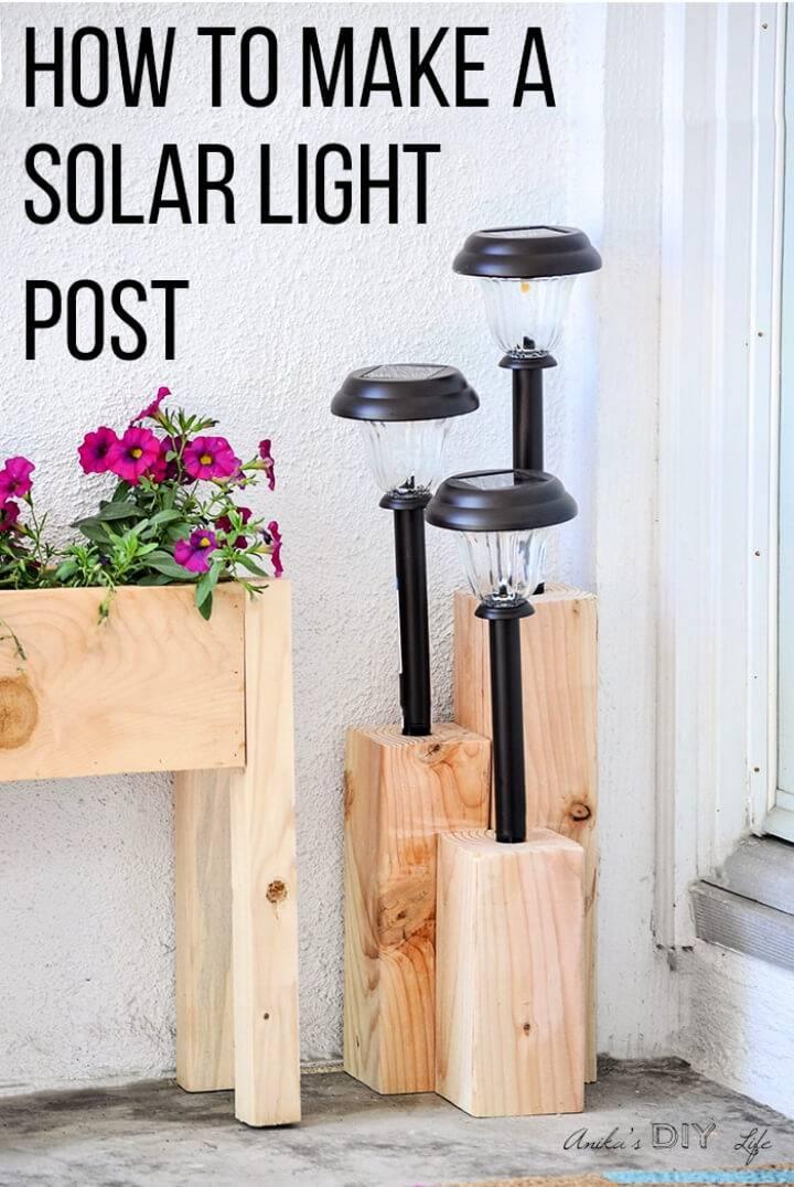DIY Solar Light Using 4×4 Boards