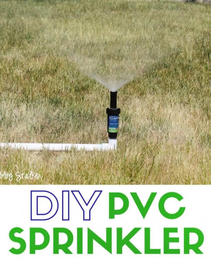DIY Sprinkler Made from PVC Pipe