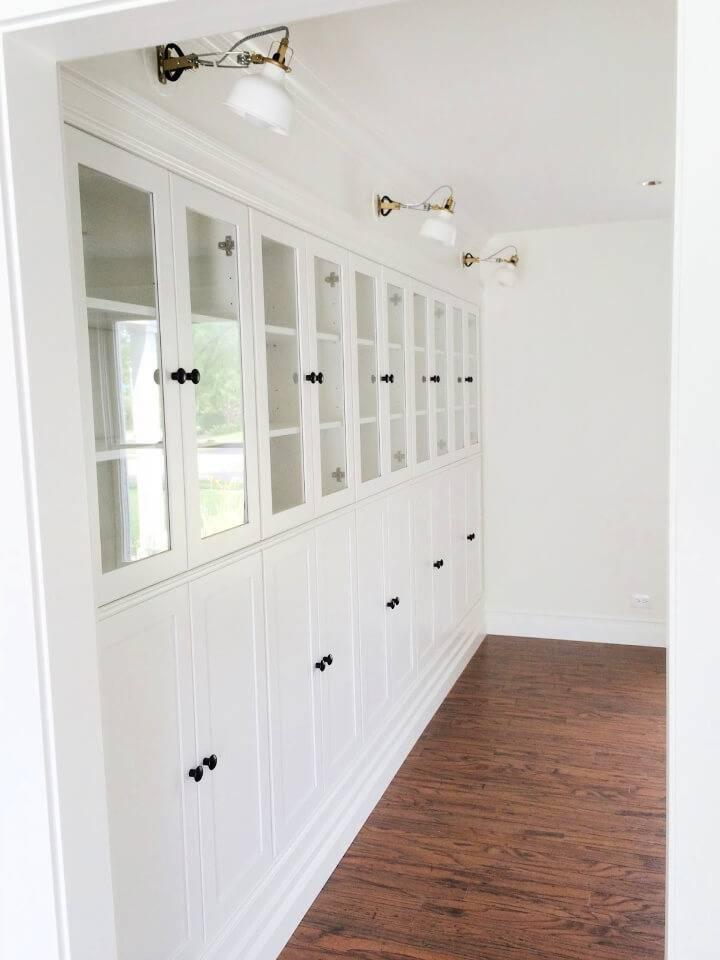 DIY Summer School Ikea Hack Built in Bookcases