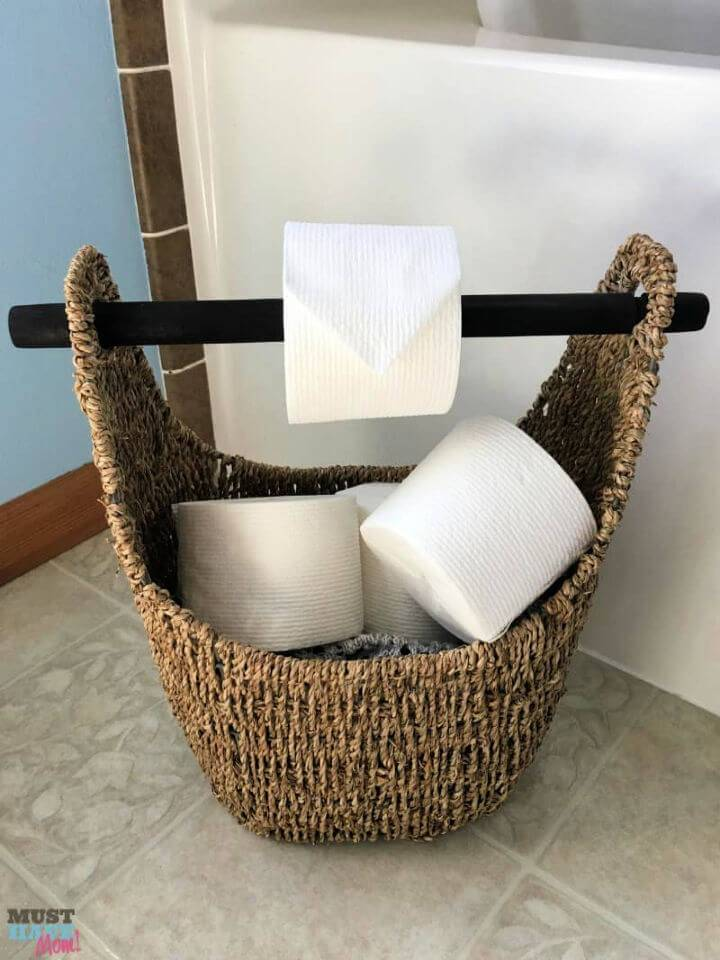 DIY Toilet Paper Basket Holder