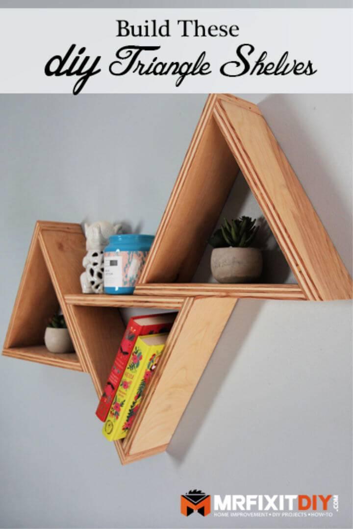 DIY Triangle Shelves Under 20