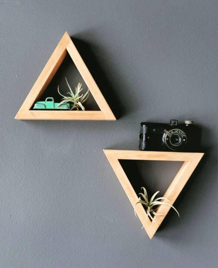 DIY Triangle Shelves for Your Room Decor