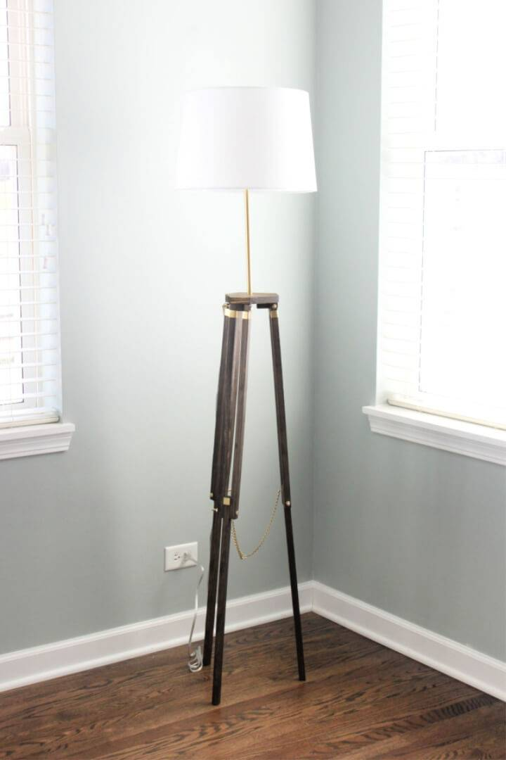 DIY Tripod Floor Lamp for Dinning Room