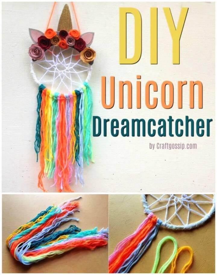 DIY Unicorn Dreamcatcher Gift Idea