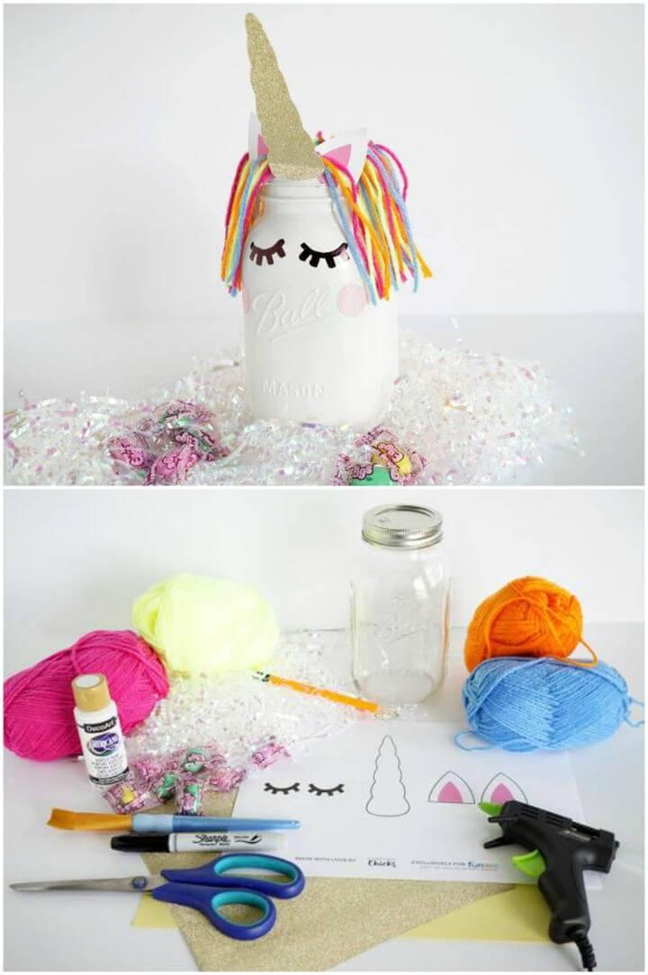 DIY Unicorn Jar for Table Decoration