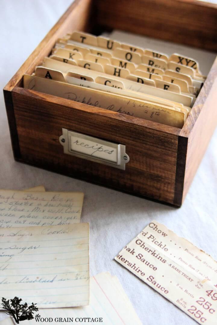 DIY Wooden Recipe Box