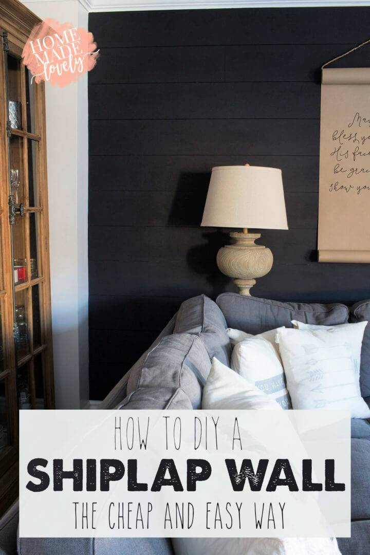 DIY a Shiplap Wall the Cheap and Easy Way
