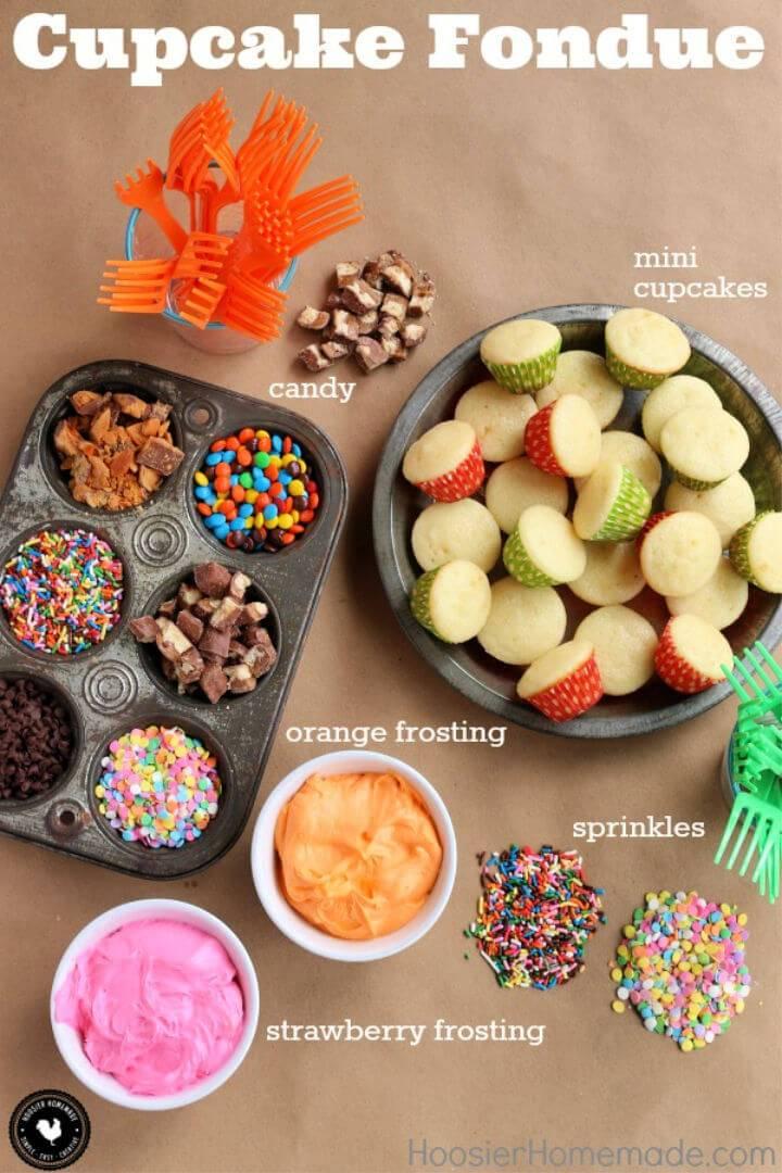 Delicious Cupcake Fondue
