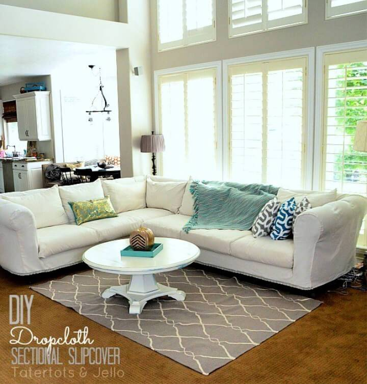 Dropcloth Sofa Sectional Slipcover