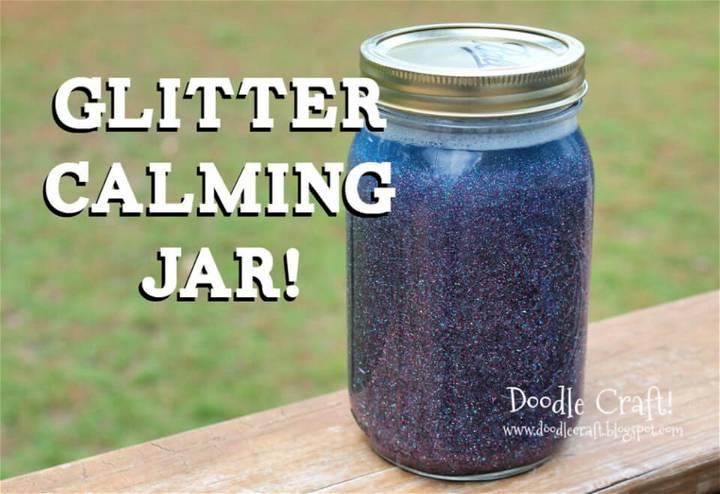Easy DIY Glitter Calming Jar