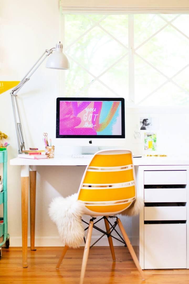 Easy DIY Ikea Desk Hack