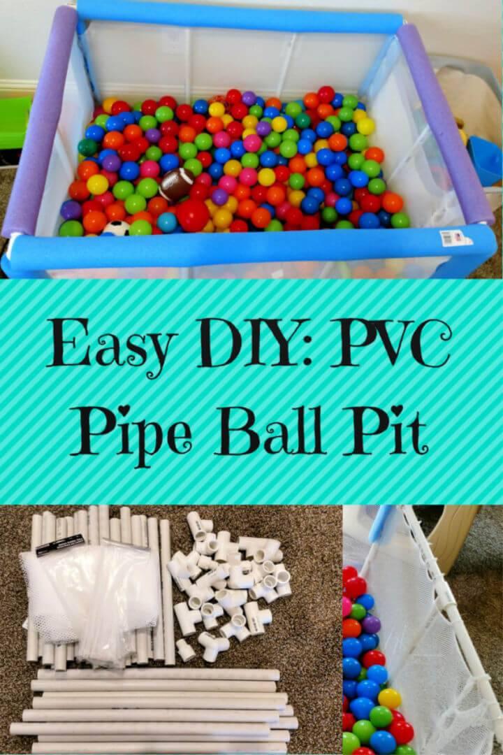 Easy DIY PVC Pipe Children's Ball Pit