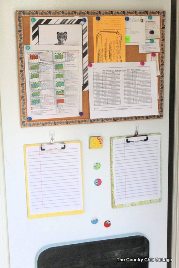 Easy DIY Refrigerator Command Center