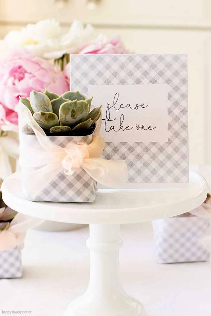 Easy DIY Succulent Wedding Favors