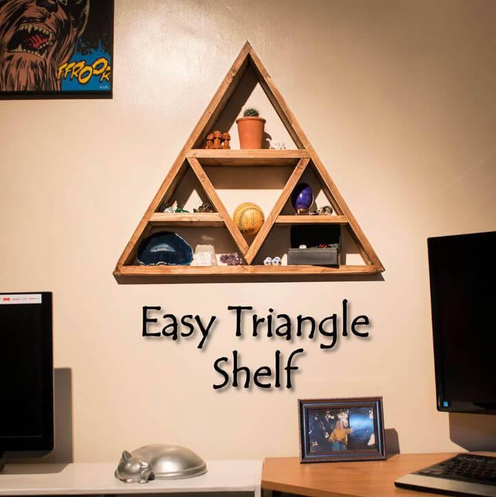 Easy DIY Triangle Shelf