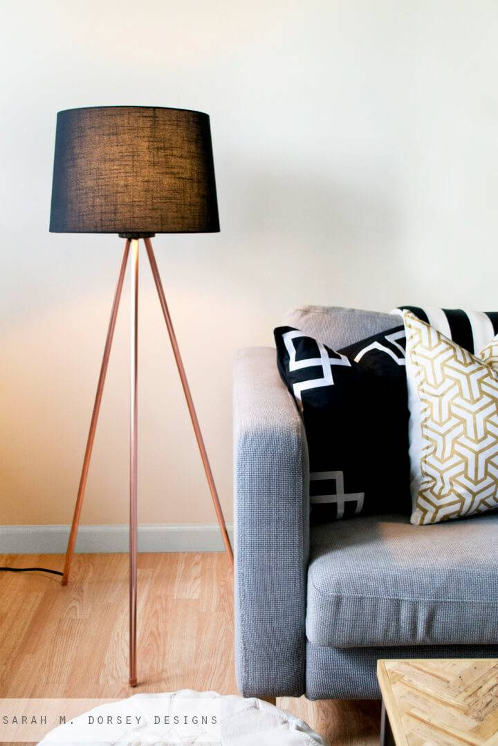 Easy DIY Tripod Floor Lamp