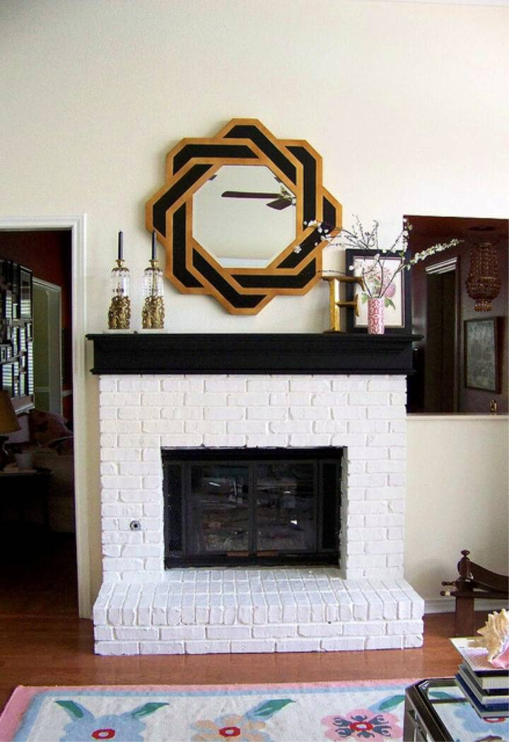 Easy to Painted Brick Fireplace White