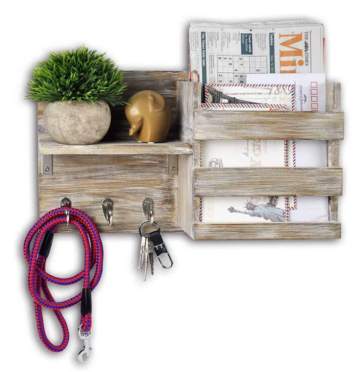 Entryway Key and Mail Holder Wall Organizer