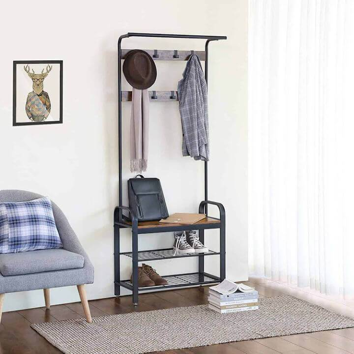 Entryway Shoe Rack and Coat Hook
