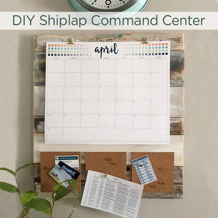 Farmhouse Style DIY Shiplap Command Center