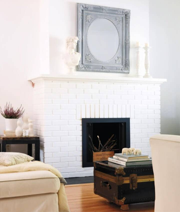 Flat White Paint Fireplace