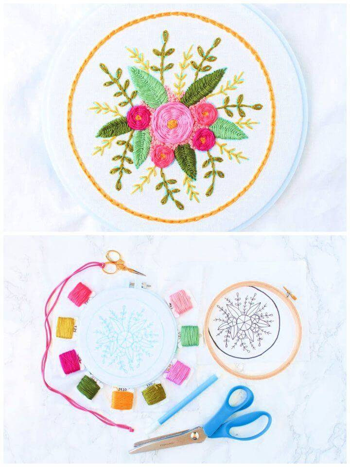 Floral Stitch Sampler Free Embroidery Pattern