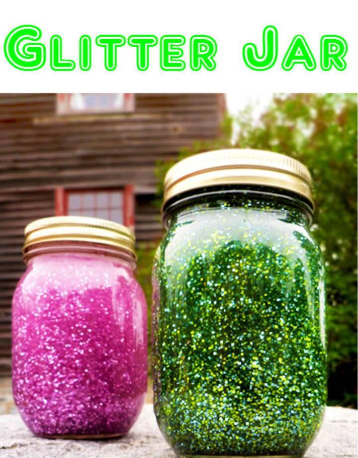 Fun DIY Glitter Jar