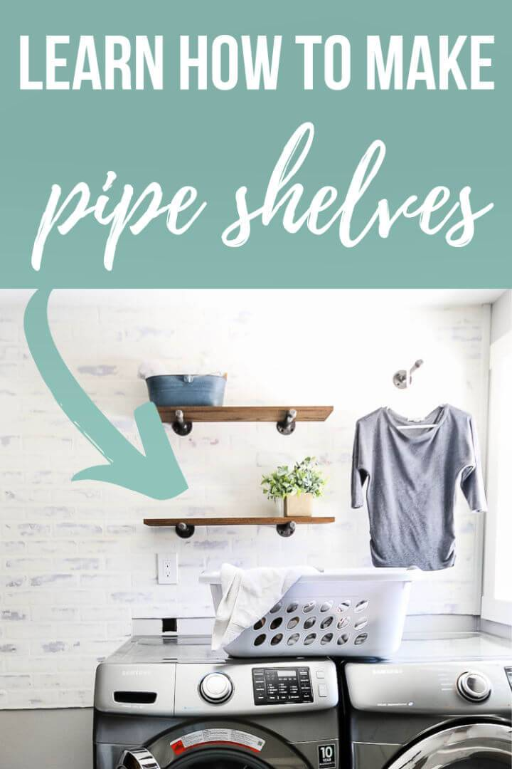 How to Build Pipe Laundry Room Shelving