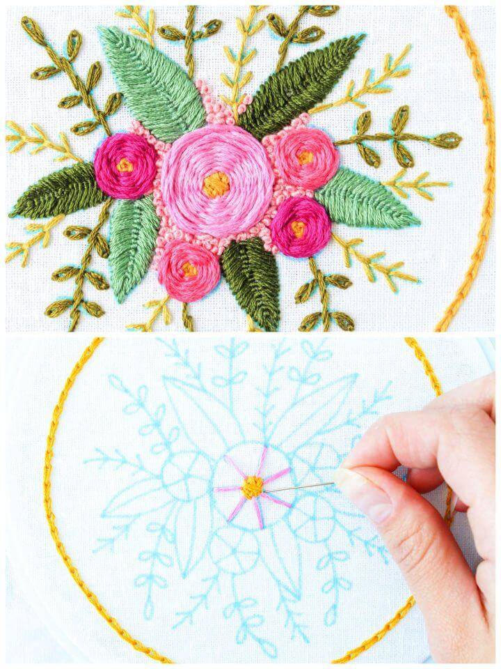 How to Hand Embroider Flowers