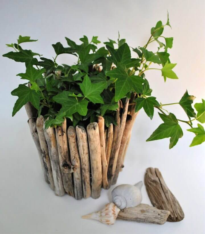 How to Make Driftwood Pot Planter