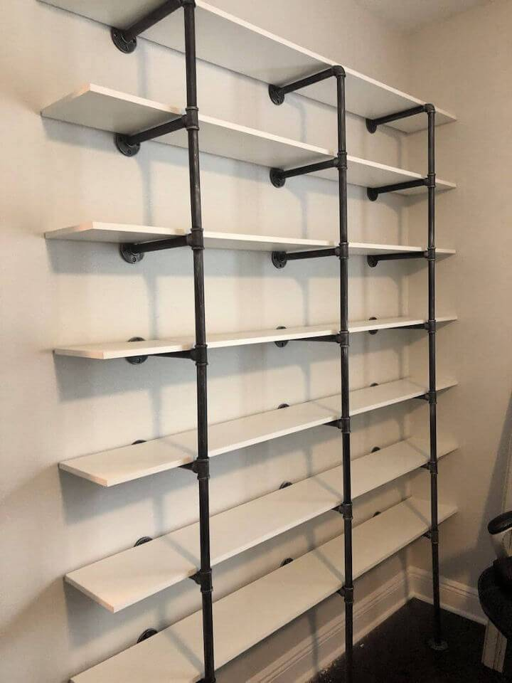 Industrial Pipe and Wood Shelves