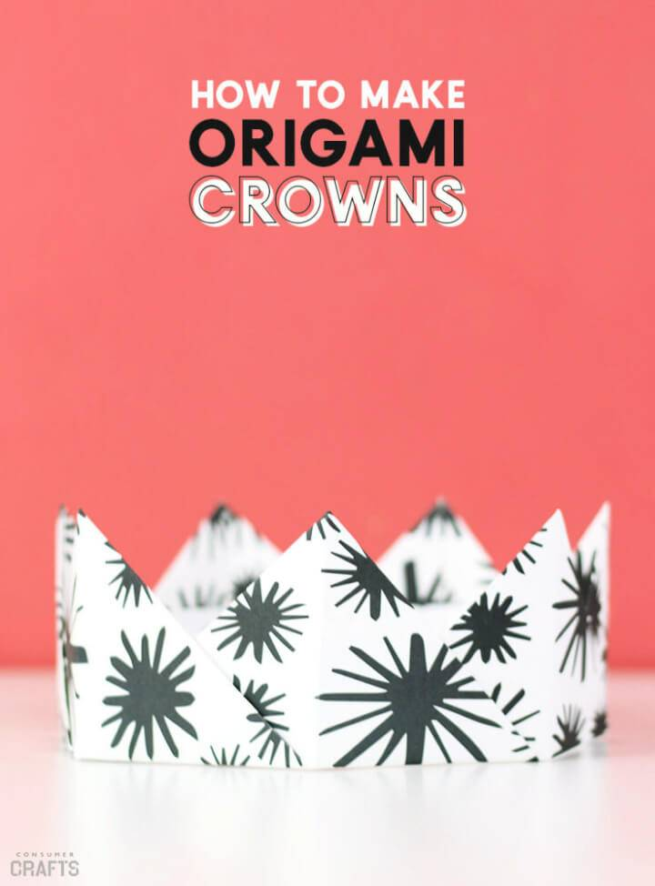 How to Make Origami Paper Crown