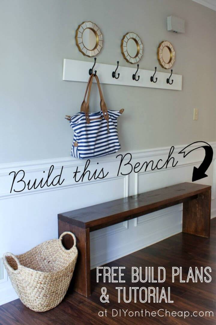 How to Make a Entryway Bench