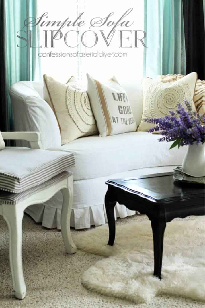 How to Sew Sofa Slipcover