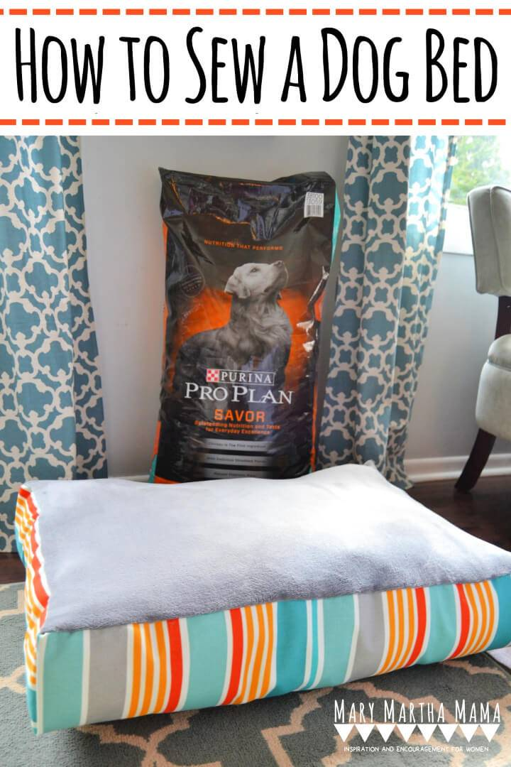 How to Sew a Dog Bed Free Pattern