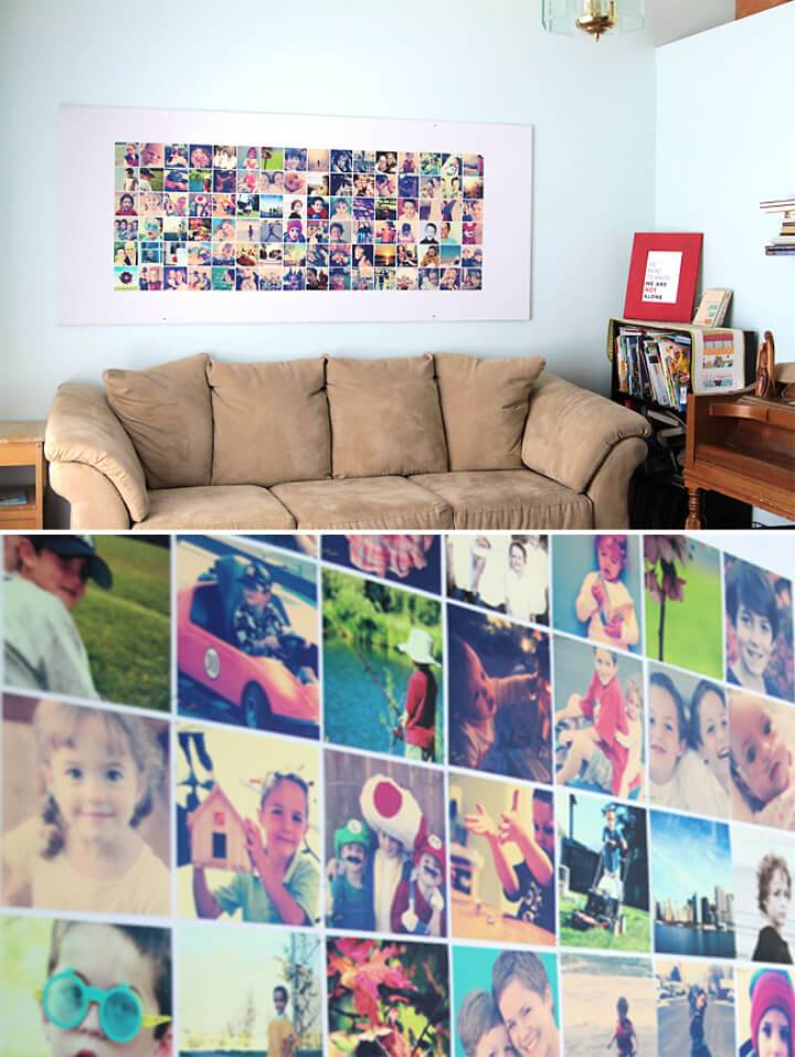 Huge DIY Photo Wall Bulletin Board