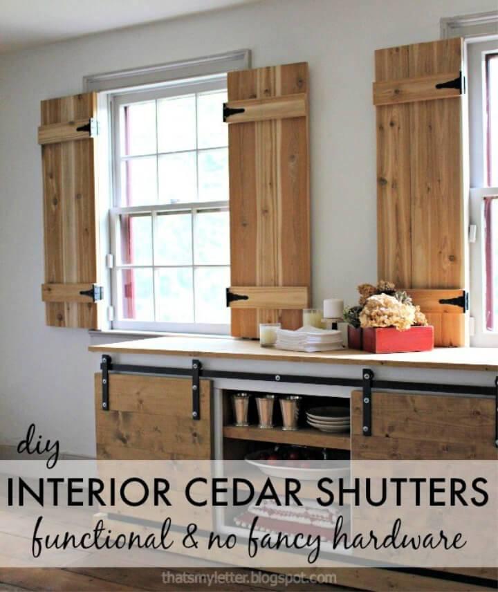 Make Interior Cedar Shutters