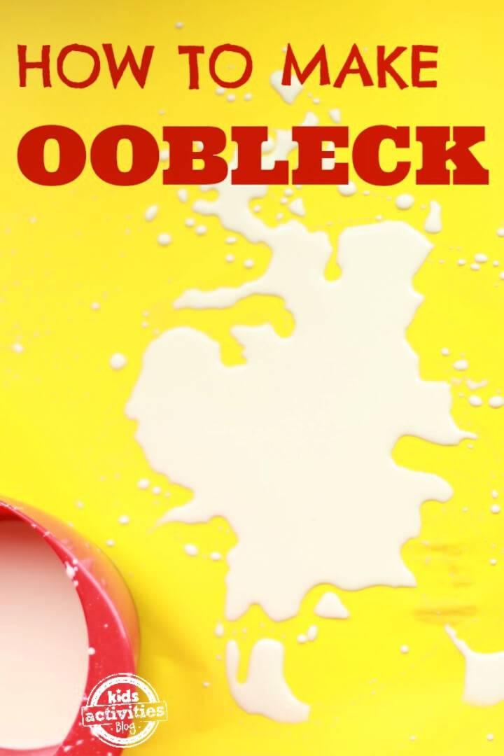 Make Oobleck A Non newtonian Fluid