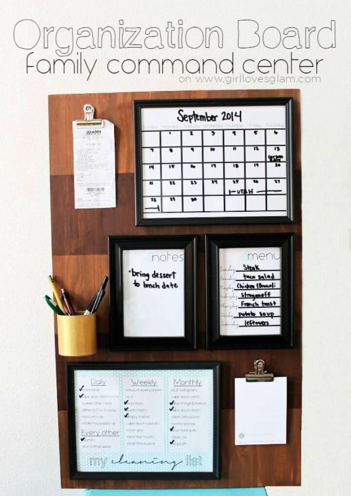 Make Organization Board Family Command Center