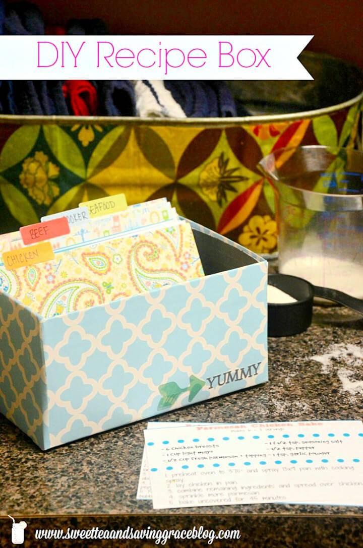 Make Recipe Box from a Shoebox