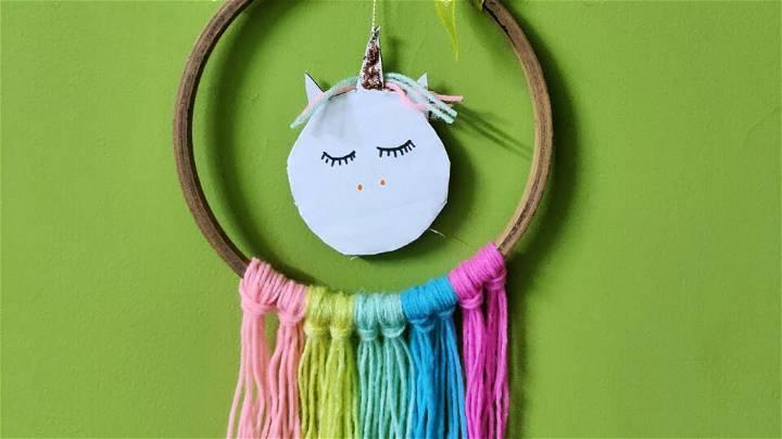 Make Unicorn Dreamcatcher from Basic Craft Items